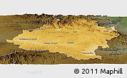 Physical Panoramic Map of Soria, darken