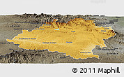 Physical Panoramic Map of Soria, darken, semi-desaturated
