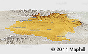 Physical Panoramic Map of Soria, lighten, semi-desaturated