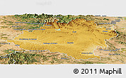 Physical Panoramic Map of Soria, satellite outside
