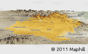 Physical Panoramic Map of Soria, semi-desaturated