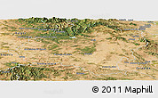 Satellite Panoramic Map of Soria