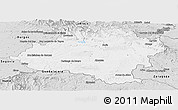 Silver Style Panoramic Map of Soria