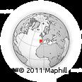 Outline Map of Zamora