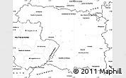 Blank Simple Map of Zamora
