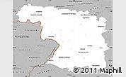 Gray Simple Map of Zamora
