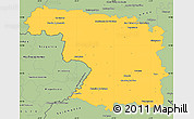 Savanna Style Simple Map of Zamora