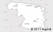 Silver Style Simple Map of Zamora, cropped outside