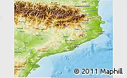Physical 3D Map of Cataluna