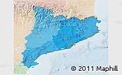 Political Shades 3D Map of Cataluna, lighten