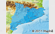 Political Shades 3D Map of Cataluna, physical outside