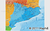 Political Shades 3D Map of Cataluna