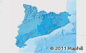 Political Shades 3D Map of Cataluna, single color outside