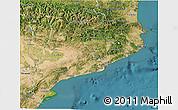 Satellite 3D Map of Cataluna