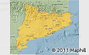 Savanna Style 3D Map of Cataluna
