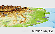 Physical Panoramic Map of Gerona