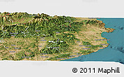 Satellite Panoramic Map of Gerona