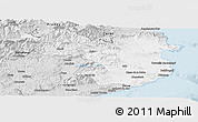 Silver Style Panoramic Map of Gerona