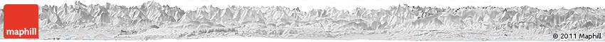 Silver Style Horizon Map of Lérida