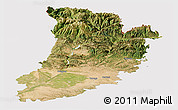 Satellite Panoramic Map of Lérida, cropped outside