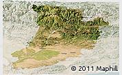 Satellite Panoramic Map of Lérida, lighten