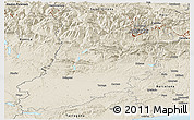 Shaded Relief Panoramic Map of Lérida