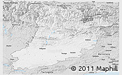 Silver Style Panoramic Map of Lérida