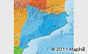 Political Shades Map of Cataluna