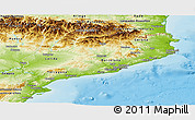 Physical Panoramic Map of Cataluna