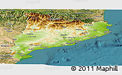 Physical Panoramic Map of Cataluna, satellite outside