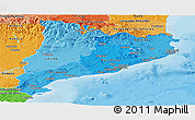 Political Shades Panoramic Map of Cataluna