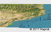 Satellite Panoramic Map of Cataluna