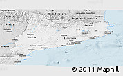 Silver Style Panoramic Map of Cataluna