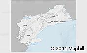 Gray 3D Map of Tarragona, single color outside