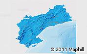 Political 3D Map of Tarragona, single color outside