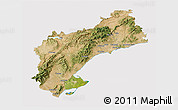 Satellite 3D Map of Tarragona, cropped outside