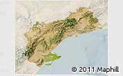 Satellite 3D Map of Tarragona, lighten