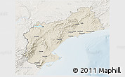 Shaded Relief 3D Map of Tarragona, lighten