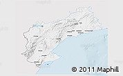 Silver Style 3D Map of Tarragona, single color outside