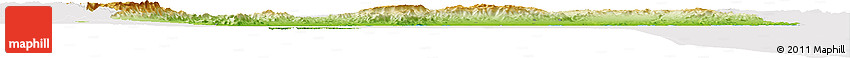 Physical Horizon Map of Tarragona, cropped outside
