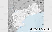 Gray Map of Tarragona