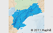 Political Map of Tarragona, lighten