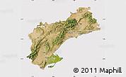 Satellite Map of Tarragona, cropped outside