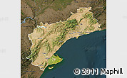 Satellite Map of Tarragona, darken