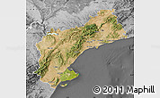Satellite Map of Tarragona, desaturated