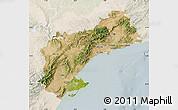 Satellite Map of Tarragona, lighten