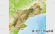 Satellite Map of Tarragona, physical outside
