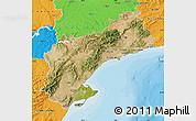 Satellite Map of Tarragona, political outside