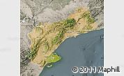 Satellite Map of Tarragona, semi-desaturated