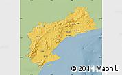 Savanna Style Map of Tarragona, single color outside